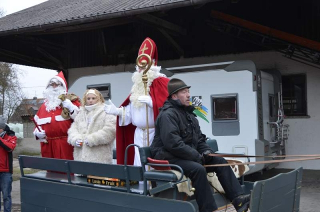 Krampus, Engel und Heiliger Nikolaus